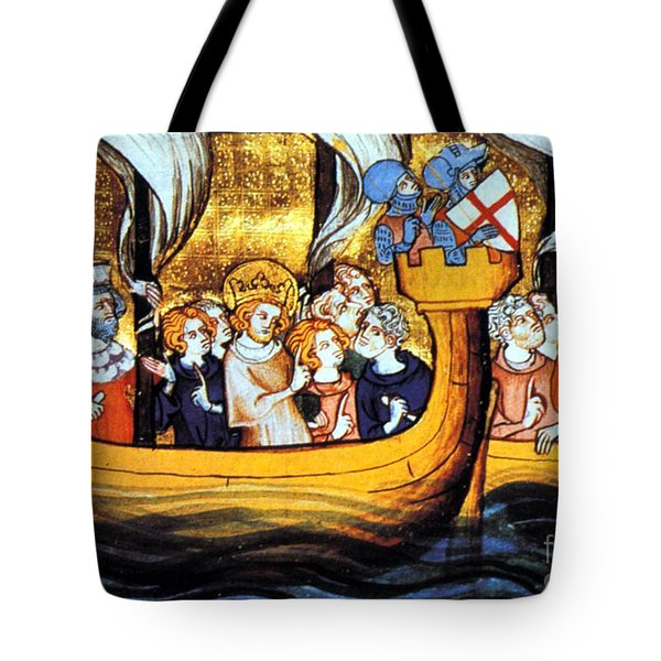 Seventh Crusade 13th Century Tote Bag by Photo Researchers