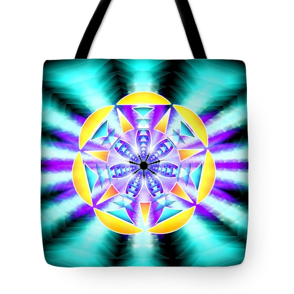 Seventh Ray Of Consciousness Tote Bag by Derek Gedney