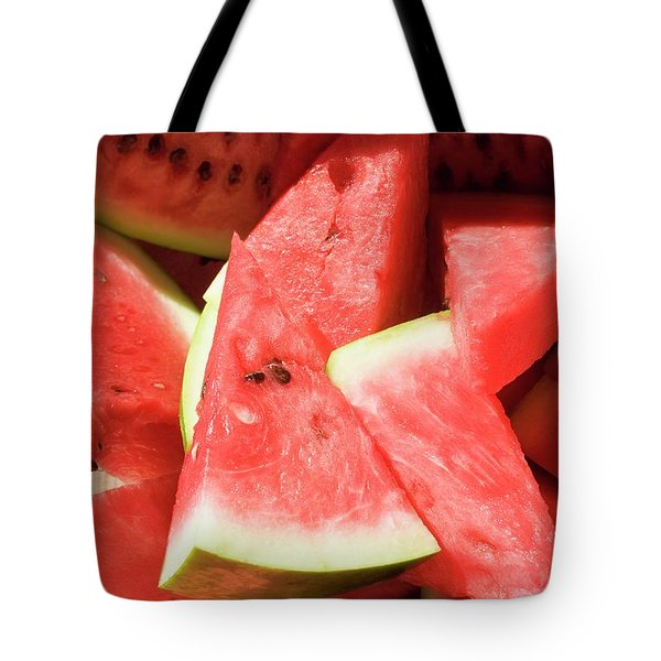 Several Pieces Of Watermelon Tote Bag
