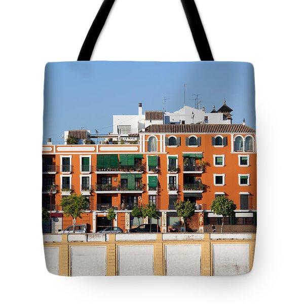 Seville House River View Tote Bag by Artur Bogacki