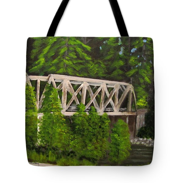 Sewalls Falls Bridge Tote Bag