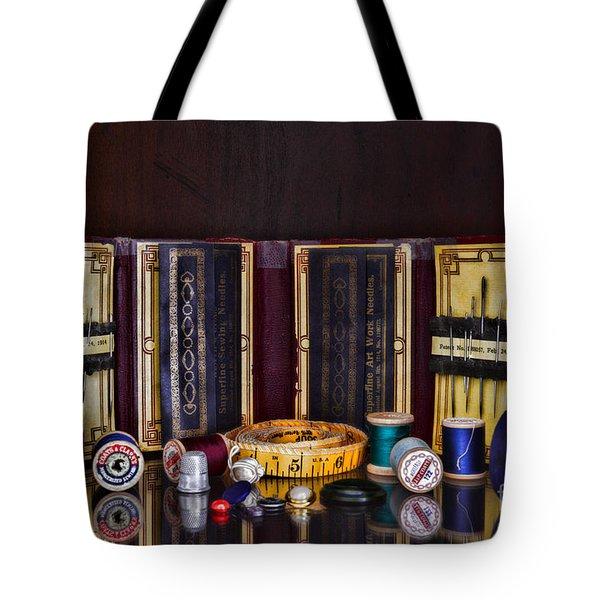 Sewing Kit Tote Bag by Paul Ward