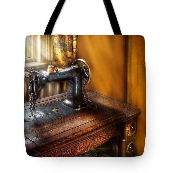Sewing Machine  - The Sewing Machine  Tote Bag by Mike Savad