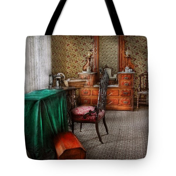Sewing - Sewing Can Be Rewarding Tote Bag by Mike Savad