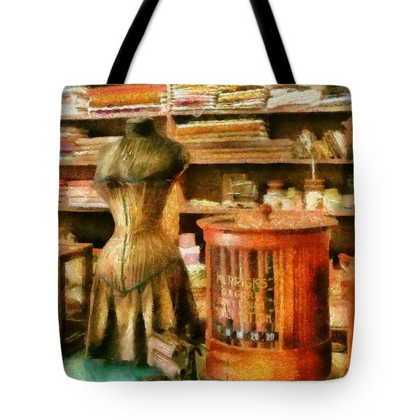 Sewing - Supplies For The Seamstress Tote Bag by Mike Savad