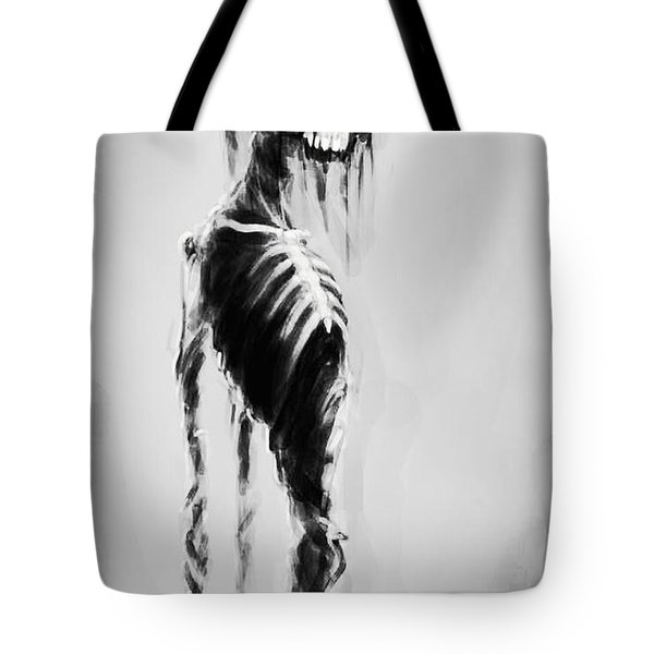 Sexy Bones Tote Bag by Tbone Oliver