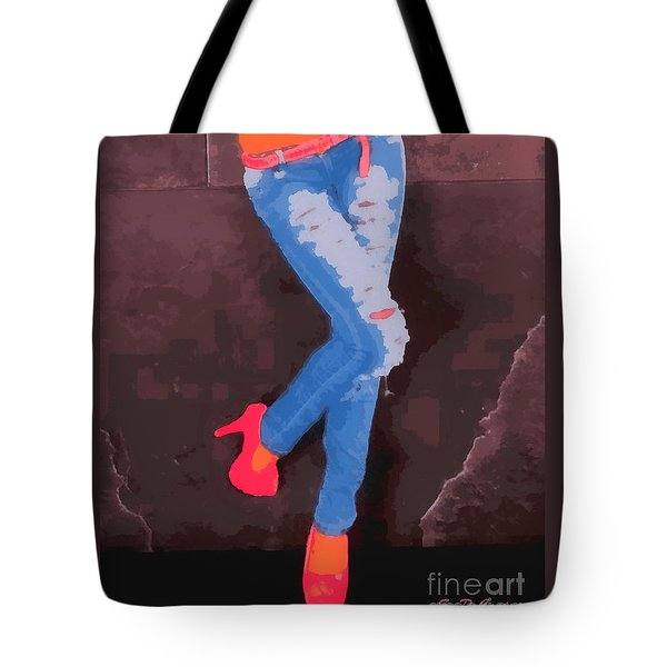 Tote Bag featuring the painting Sexy Jeans by Elizabeth Coats