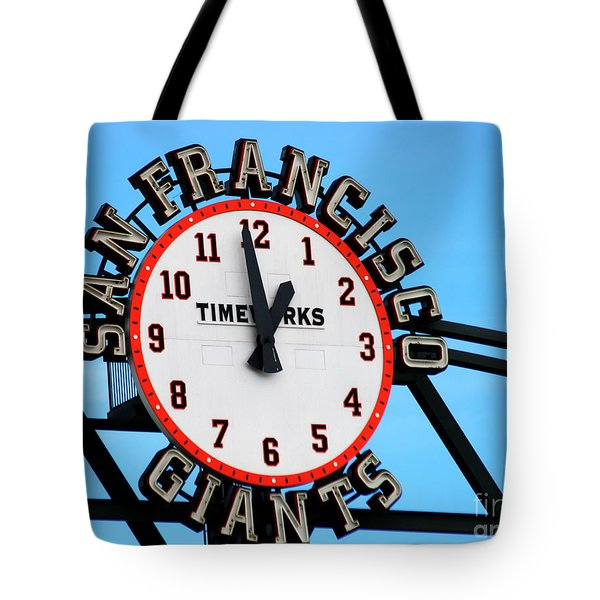 San Francisco Giants Baseball Time Sign Tote Bag