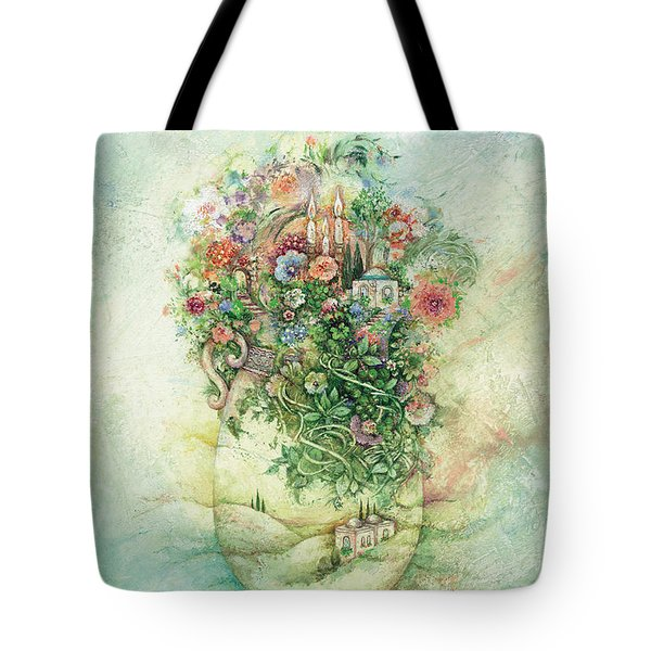 Shabbat Vase Tote Bag by Michoel Muchnik