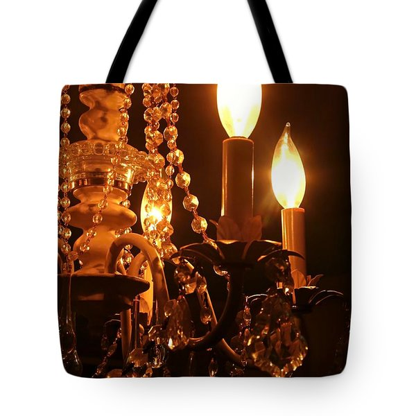 Shabby Chandelier Bling 2 Tote Bag by Margaret Newcomb