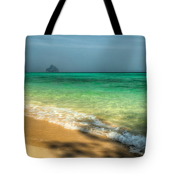Shaded Beach Tote Bag by Adrian Evans