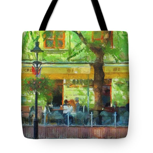 Shaded Cafe Tote Bag by Jeff Kolker