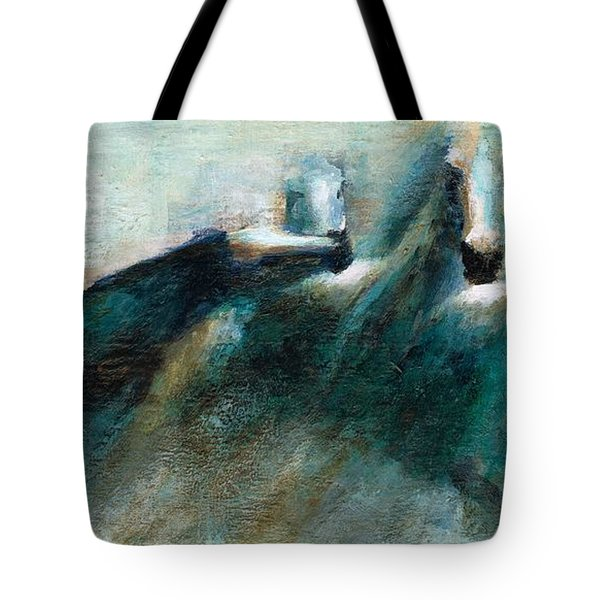 Shades Of Blue Tote Bag by Frances Marino