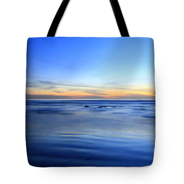 Tote Bag featuring the photograph Rocks In Surf Carlsbad by John F Tsumas
