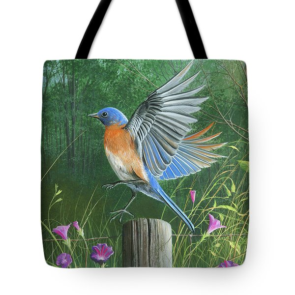 Shades Of Blue Tote Bag
