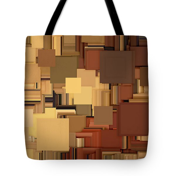 Shades Of Brown Tote Bag by Lourry Legarde
