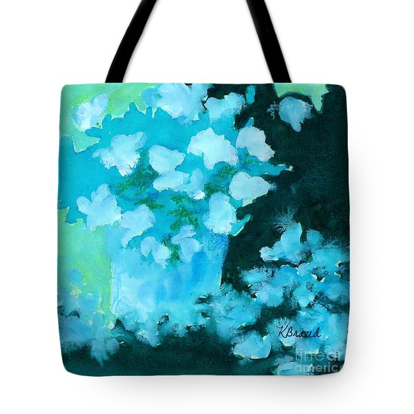 Shades Of Green And Light Tote Bag by Kathy Braud