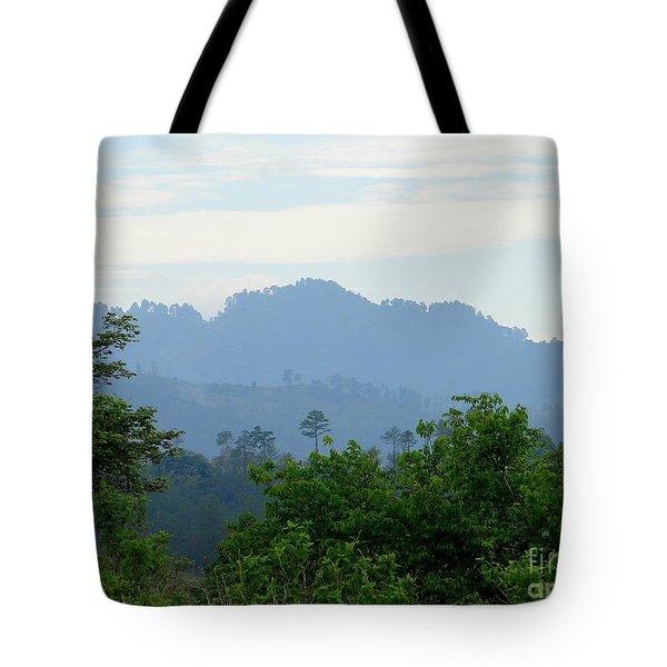 Shades Of Honduran Blue Tote Bag by Lew Davis