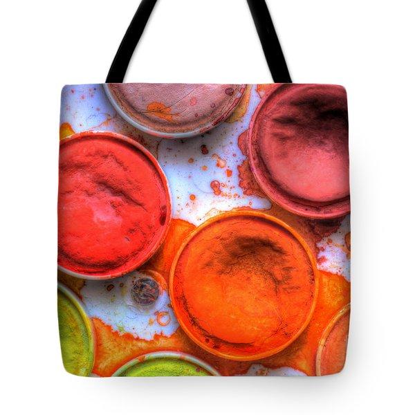Shades Of Orange Watercolor Tote Bag by Heidi Smith