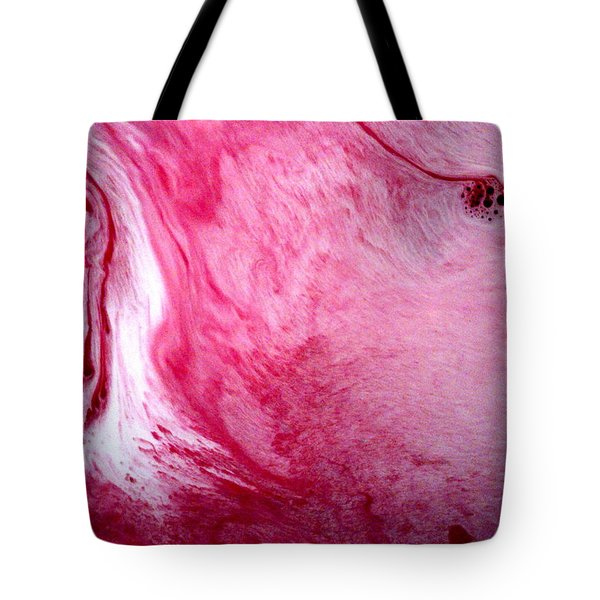 Tote Bag featuring the painting Shades Of Pink by Salman Ravish