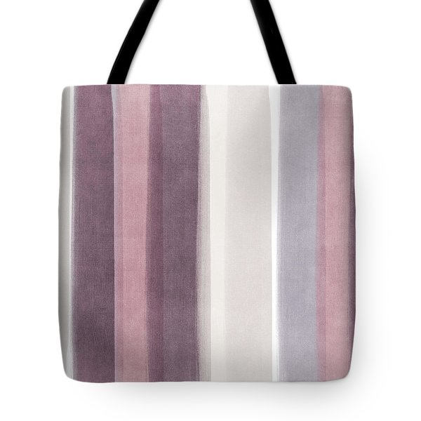 Shades Of Purple- Contemporary Abstract Painting Tote Bag by Linda Woods