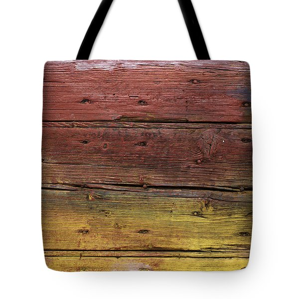 Shades Of Red And Yellow Tote Bag by Ron Harpham