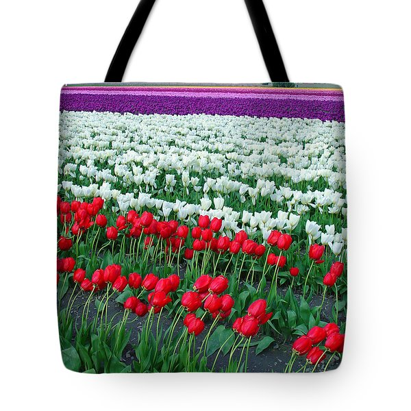 Shades Of Tulips Tote Bag by John Bushnell