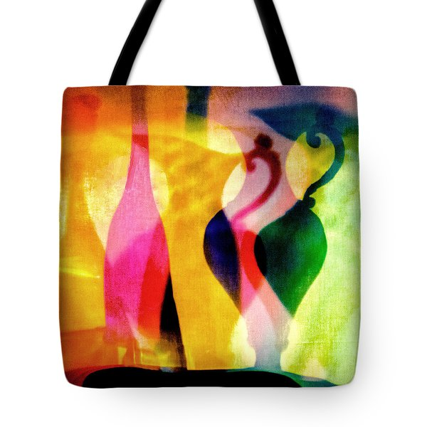 Shades Of Vase And Pitcher Tote Bag