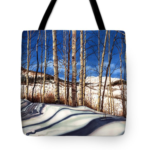 Tote Bag featuring the painting Shadow Dance by Barbara Jewell