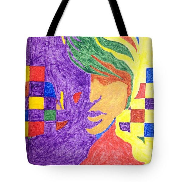 Tote Bag featuring the painting Prince Gemini   by Stormm Bradshaw
