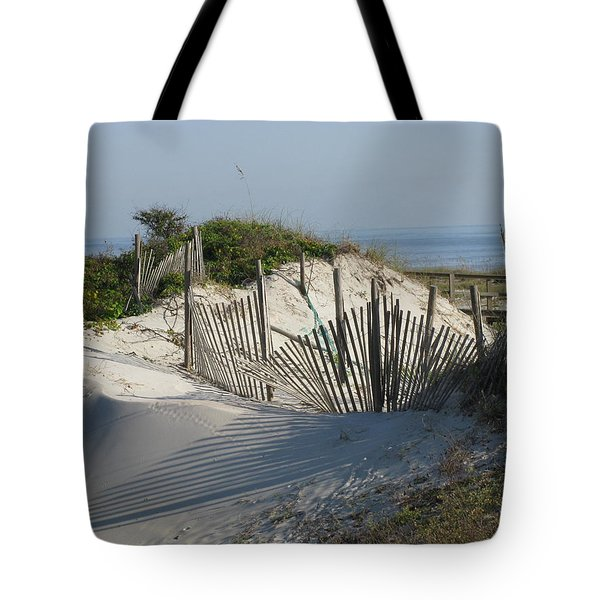 Shadow Fence Tote Bag