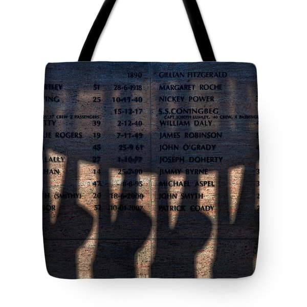 Shadow Of The Fishermens Memorial Tote Bag