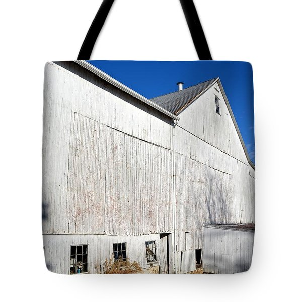 Shadow On White Barn Tote Bag
