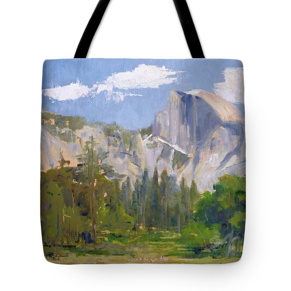 Shadow Over Half Dome Tote Bag by Sharon Weaver