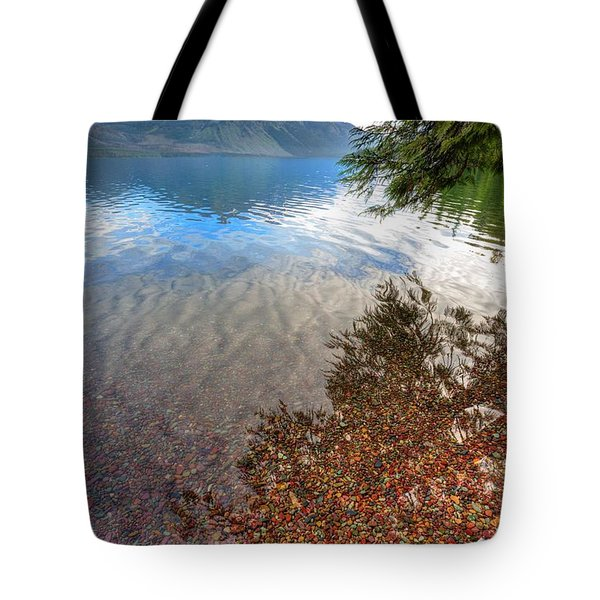 Tote Bag featuring the photograph Shadow Pebbles by David Andersen