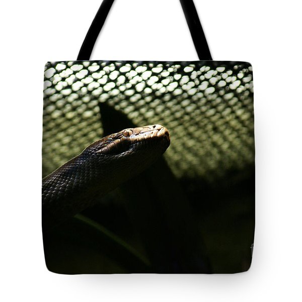 Tote Bag featuring the photograph Shadow Snake - 1 by Linda Shafer