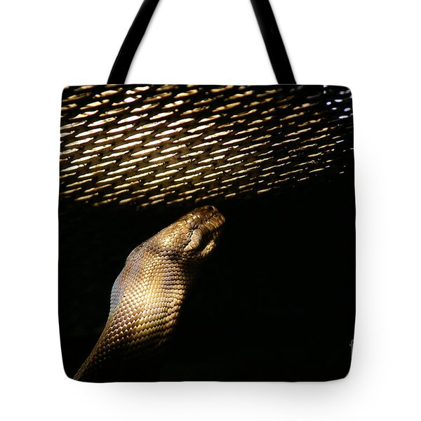 Tote Bag featuring the photograph Shadow Snake - 2 by Linda Shafer