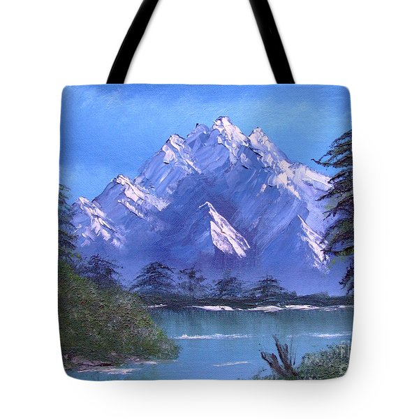 Shadowed Mountain Lake Tote Bag