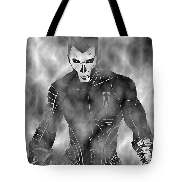 Shadowman In The Dead Grounds Tote Bag