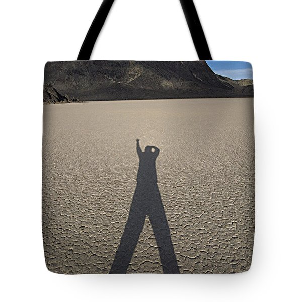 Tote Bag featuring the photograph Shadowman by Joe Schofield