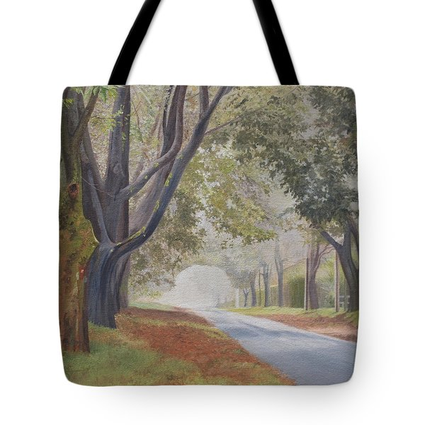 Shadow And Fog Down Beautiful Atlantic Avenue Tote Bag