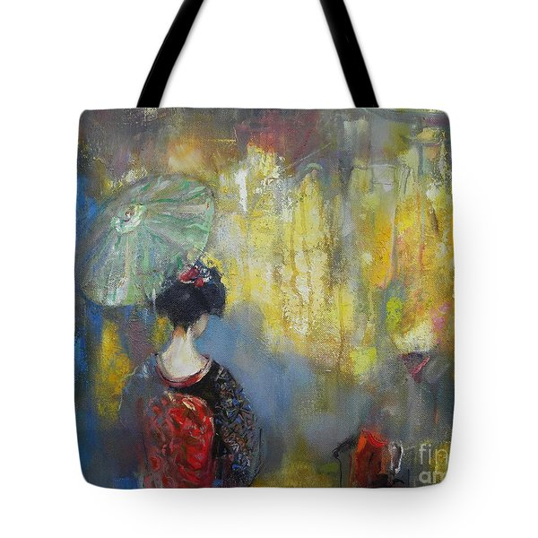 Shadows And Lights In Kyoto  Tote Bag