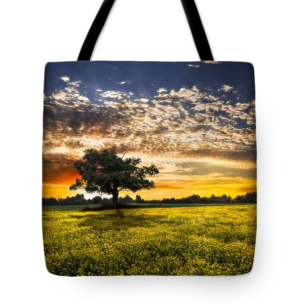 Shadows At Sunset Tote Bag by Debra and Dave Vanderlaan
