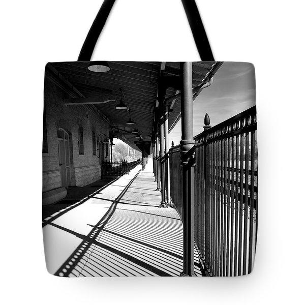Shadows At The Station Tote Bag