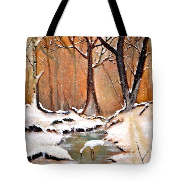 Shadows Beyond Winter Tote Bag