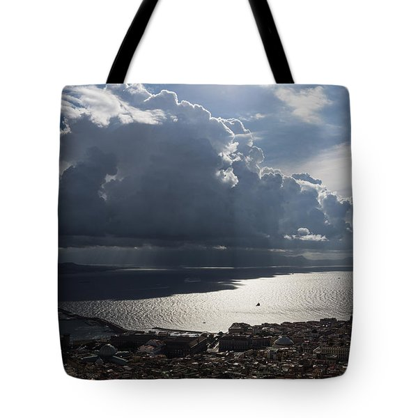 Tote Bag featuring the photograph Shadows Of Clouds by Georgia Mizuleva
