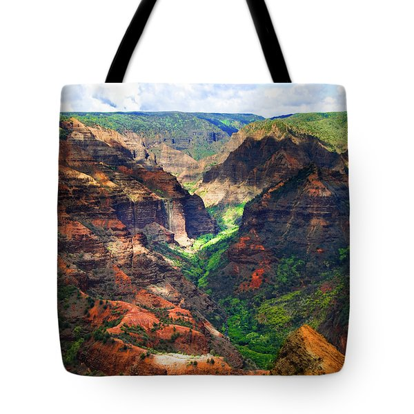 Shadows Of Waimea Canyon Tote Bag