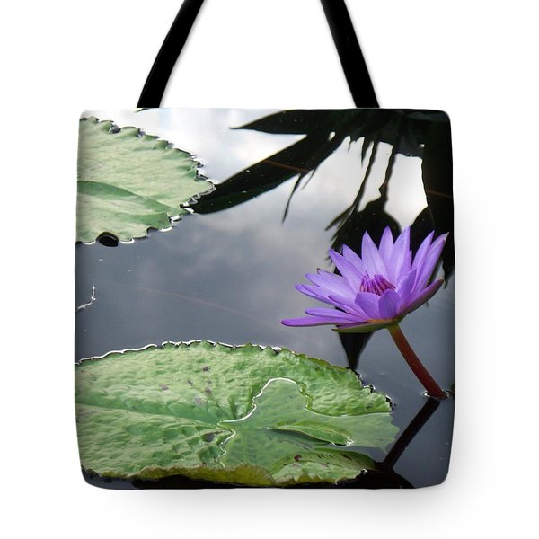 Shadows On A Lily Pond Tote Bag