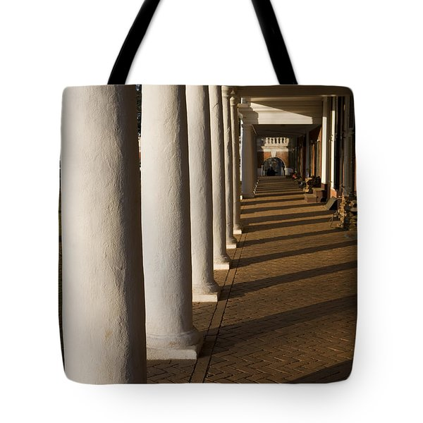Shadows On The Lawn University Of Virginia Tote Bag