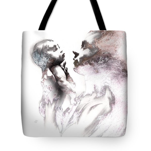 Shadowtwister Reflections Textured Tote Bag by Paul Davenport